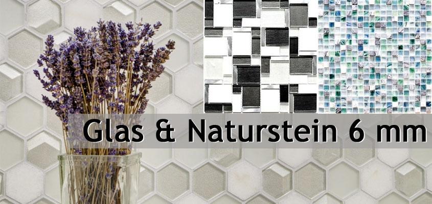 Naturstein Glasmosaik 6mm