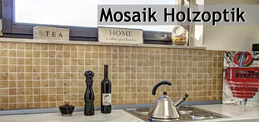 Mosaik Holzoptik