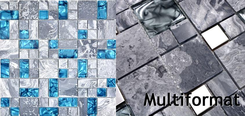 Glas Naturstein Mosaik Multiformat