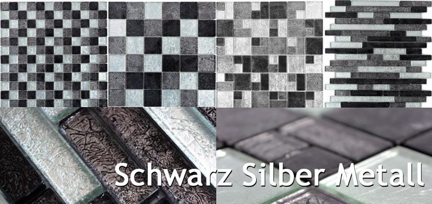 Silber schwarz Mosaik