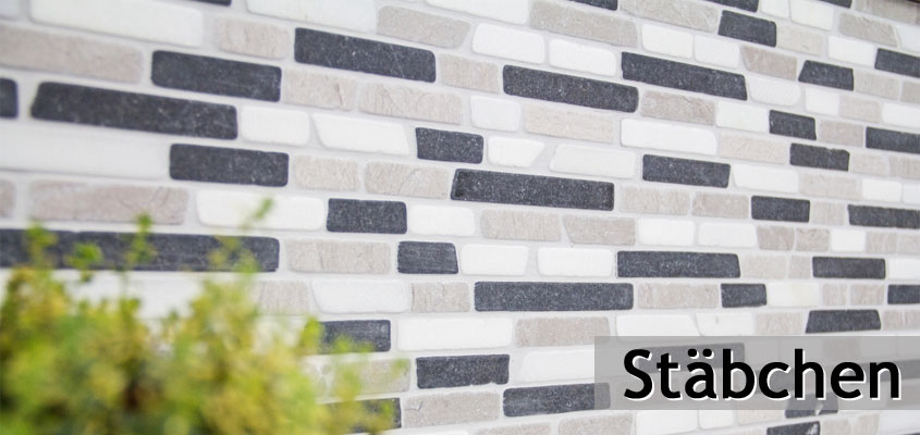 Naturstein Mosaik Stäbchen