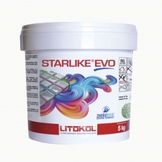 Litokol STARLIKE EVO 100 BIANCO ASSOLUTO weiss Epoxidharz Kleber Fuge 5kg Eimer