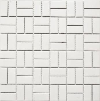 Mosaik Fliese Keramik Windmühle weiß matt MOS24-CWM07WM