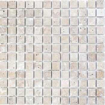 Mosaik Fliese Travertin Naturstein walnuss Noce Antique Travertin MOS43-44023