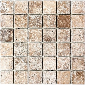 Mosaik Fliese Travertin Naturstein walnuss Noce Antique Travertin MOS43-44048