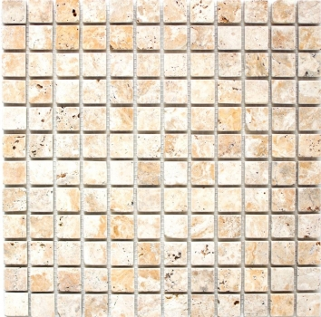 Mosaik Fliese Travertin Naturstein gelb Gold Antique Travertin MOS43-51023