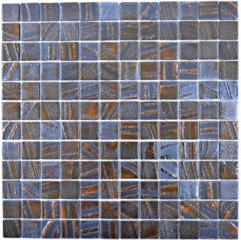 Mosaikfliese ECO Recycling GLAS ECO bronze oxide MOS360-07_f | 10 Mosaikmatten