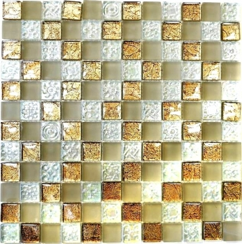 Mosaikfliese Transluzent champagner Glasmosaik Crystal Lüster champagner MOS88-8LU80
