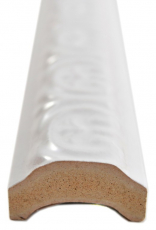 Keramik weiß Borde Bordüre TUBA weiß glänzend MOSBor-PARIS-0102