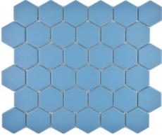Keramik Mosaik Hexagon blaugrün R10B Duschtasse Bodenfliese Mosaikfliese  Küche Bad Boden