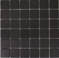 Mosaikfliese Keramik schwarz anthrazit unglasiert RUTSCHEMMEND MOS14B-0303-R10