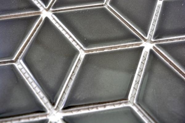 Mosaik Fliese Keramik schwarz unglasiert K/üchenr/ückwand Spritzschutz MOS14-CU922