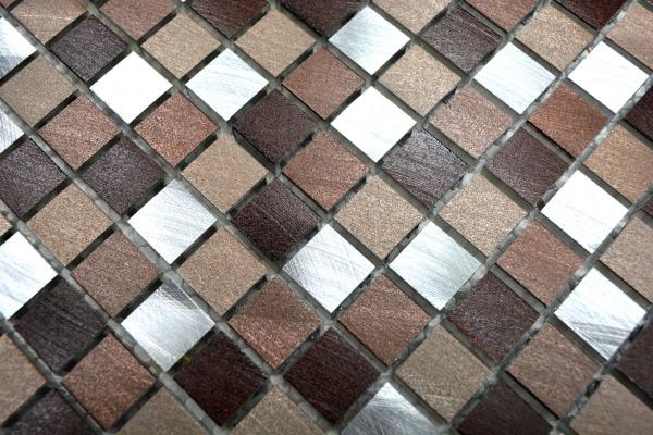 Aluminium Alu Mosaik Fliesen Kupfer Braun Mix Metall
