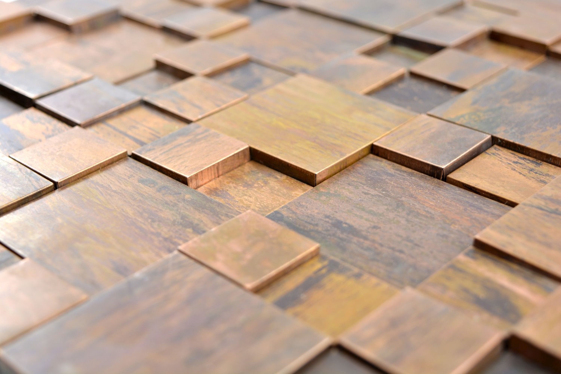 Mosaik Fliese kupfer Hexagon 3D braun f/ür WAND THEKENVERKLEIDUNG Mosaikmatte Mosaikplatte