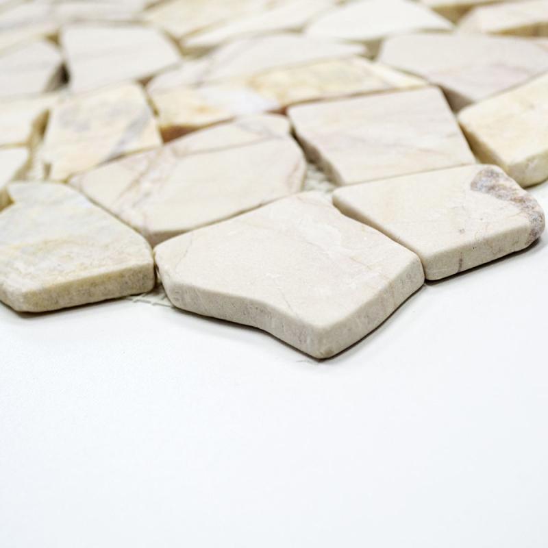 Mosaik Fliese Marmor Naturstein gelb Bruch Ciot Giallo Reale MOS44-1202