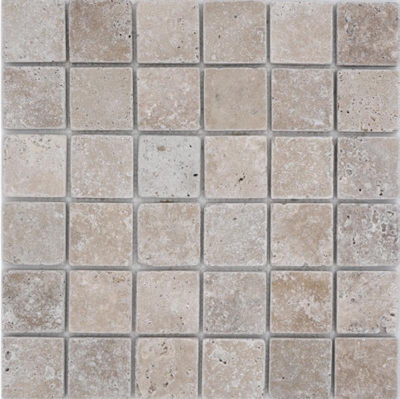 Mosaik Fliese Travertin Naturstein walnuss Noce Antique 43-1212-26/_b1 Matte