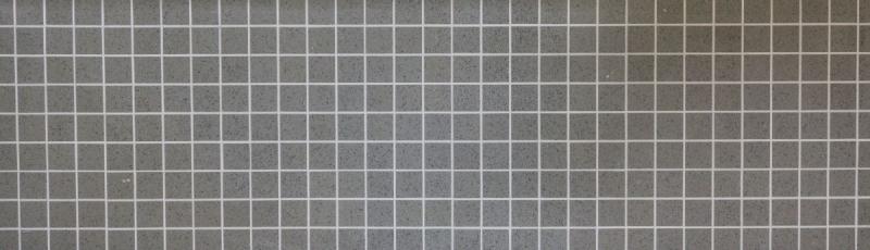 Mosaik Fliese Quarz Komposit Kunststein Artificial grau MOS46-ASM43