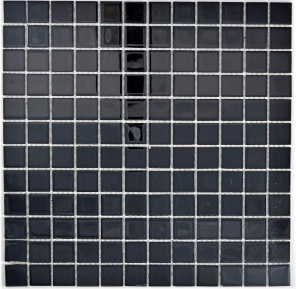 Glasmosaik//Edelstahl mix schwarz//Glas Fliesenspiegel Küche Art:86-0302 10Matten