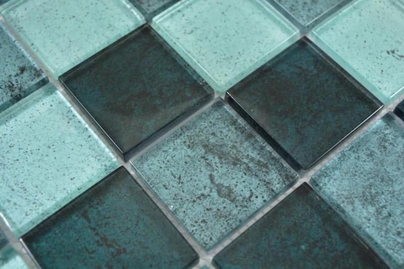 Transparentes Crystal Glasmosaik petrol Wand Fliesenspiegel K/üche Dusche Bad MOS88-0018/_m