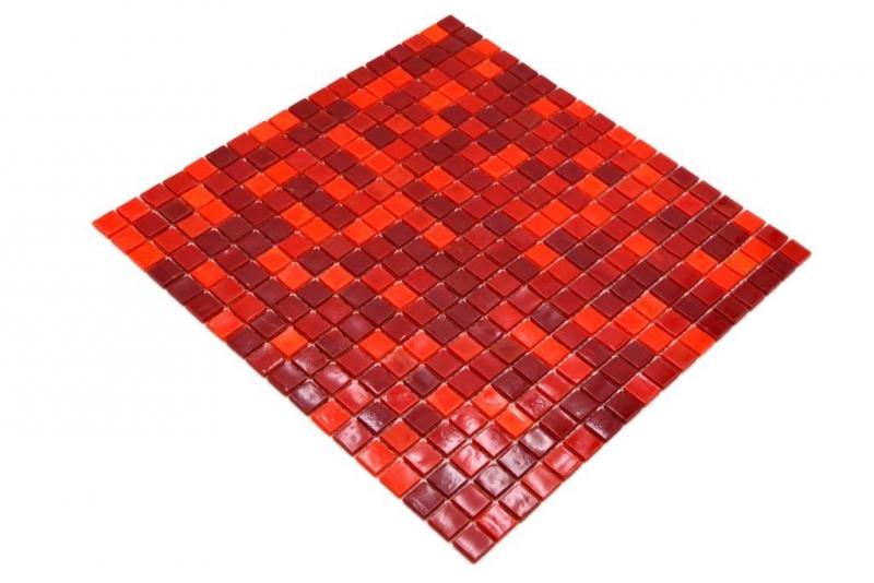 Glas Glasmosaik rot Wand Fliesenspiegel K/üche Bad
