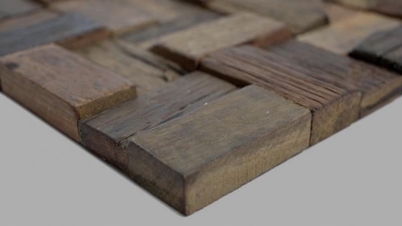 Holz Mosaik boot Old Wood Holz FSC Mosaikfliese Wand Fliesenspiegel Küche Bad