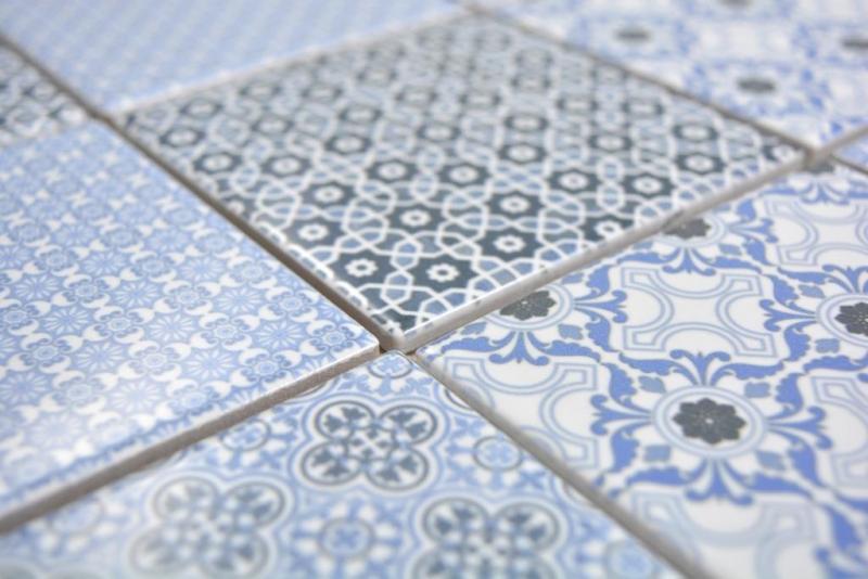Keramik Mosaik blau Mosaikfliese Wand Fliesenspiegel K/üche Bad MOS22B-0404/_m