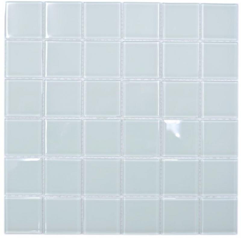 Mosaik Fliese Keramik wei/ß gl/änzend Fliesenspiegel Badezimmerwand MOS16B-0101