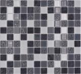 Mosaikfliese Transluzent grau Glasmosaik Crystal Stein grau MOS62-0207-GN_f