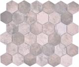 Keramik Mosaik Hexagon Zement dunkelgrau Mosaikfliese Wand Fliesenspiegel Küche Bad MOS11H-0026_f
