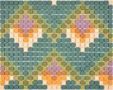 GLASMOSAIK Dekor grün matt Mosaikfliese Wand Fliesenspiegel Küche Bad MOS140-RO2_f