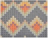 GLASMOSAIK Dekor helllgrau matt Mosaikfliese Wand Fliesenspiegel Küche Bad MOS140-RO4_f