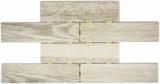 Mosaik Fliese Keramikmosaik hellbeige Brick Oak Chinchilla in Dot Joint 24CD-0112