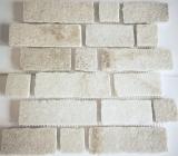 Mosaik Fliese Schiefer Naturstein Brick weiß MOS34-0102_f