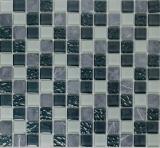 Mosaik Fliese Transluzent grau Glasmosaik Crystal Stein grau MOS82-0204_f