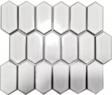 Mosaikfliese Keramik Mosaik Hexagonal weiß glänzend Küche Fliesenspiegel MOS11J-471
