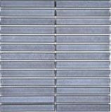 Mosaikfliese Keramik Mosaik Stäbchen grau gesprenkelt glänzend Badezimmer Wand MOS24-CS26