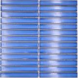 Mosaikfliese Keramik Mosaik Stäbchen blau gesprenkelt glänzend Küche Fliesenspiegel MOS24-CS46_f