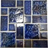 Mosaikfliese Keramik Mosaik Kombi blau glänzend Badezimmer Dusche Wand MOS13-KAS2_f