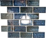 Mosaikfliese Keramik Mosaik Verbund grün glänzend Fliesenspiegel Wand MOS26-KAS8_f