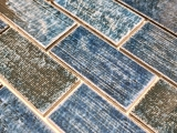 Mosaikfliese Keramik Mosaik Verbund grün glänzend Fliesenspiegel Wand MOS26-KAS8_m