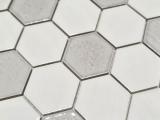 Mosaikfliese Keramik Mosaik Hexagonal weiß glänzend Küche Badezimmer MOS11K-SAN1_m