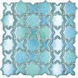 Mosaikfliese Keramik Mosaik Kombi mix grün glänzend Küchenrückwand Bad MOS13-SXS10_f