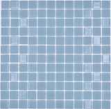 Mosaikfliese Selbstklebende Mosaike Crystal mix grau matt Fliesenspiegel Küche MOS200-4C18