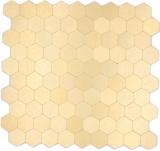 Mosaikfliese Selbstklebende Mosaike hexagonal metall gold Küche Wand MOS200-4GHX