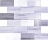 Mosaikfliese Selbstklebende Mosaike Vinyl Zementoptik Mix grau Subway Küche MOS200-5S59