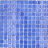 Mosaikfliese Poolmosaik Schwimmbadmosaik dunkelblau Dusche Wand SPAIN MOS220-508PU