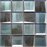 Mosaikfliese Glasmosaik Kombi 3D-Optik grün Wand Küche Fliesenspiegel MOS88-XB20