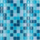 Mosaikfliese Glasmosaik Mix mix blau petrol Küche Badzimmer Fliesenspiegel MOS88-XCE95