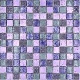 Mosaikfliese Glas Naturstein Mosaik Rustikal Resin mix pink lila MOS83-CB74