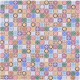 Mosaikfliese Glasmosaik Kombi Retro Biscuit Color bunt Fliesenspiegel Bad MOS78-RB83_f